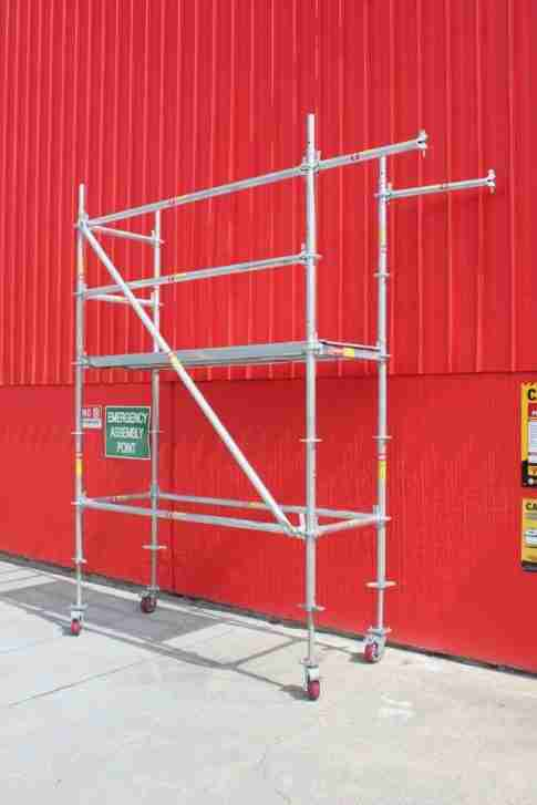 Ringlock mobile scaffold tower