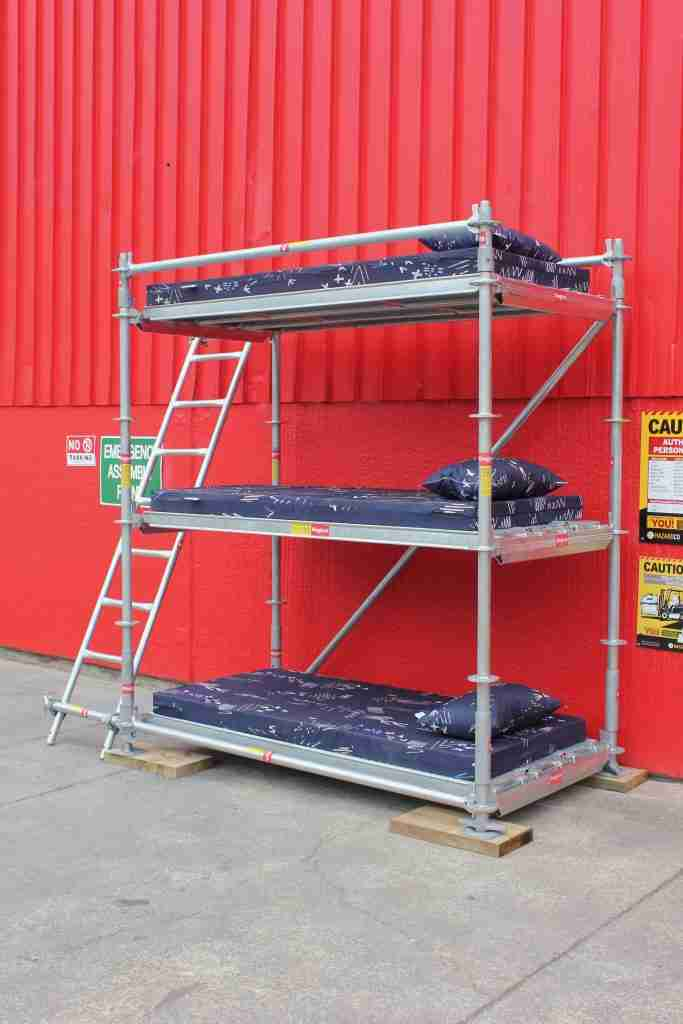 Picture of: This Triple Single Bunk Bed Ringlock Scaffolding Nz